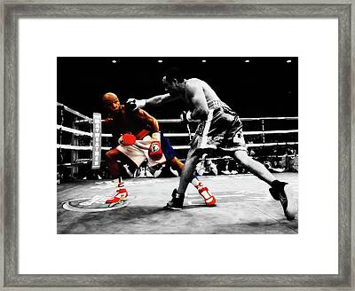 Mayweather And Manuel Marquez  Framed Print