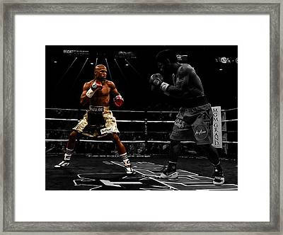 Mayweather And Pacquiao Framed Print by Brian Reaves