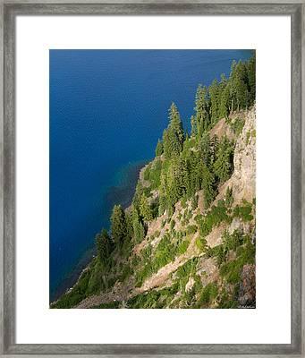 Mazama Mountain Crater Lake Framed Print by Alexander Fedin