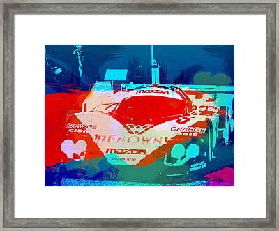 Mazda Le Mans Framed Print