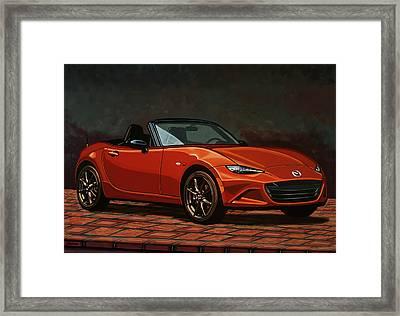 Mazda Mx-5 Miata 2015 Painting Framed Print