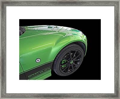 Mazda Mx-5 Sport Black Detail Framed Print by Gill Billington