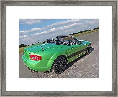 Mazda Mx-5 Top Down Rear Framed Print