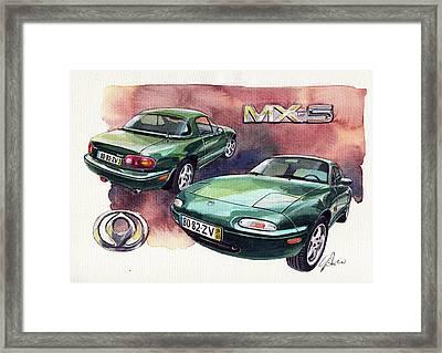 Mazda Mx5 Framed Print