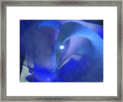 Maze Blue Framed Print