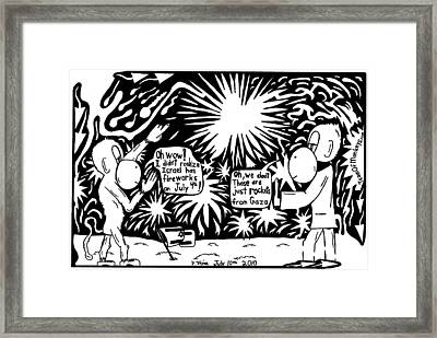 Maze Cartoon Of Israel On The Forth Of July Framed Print