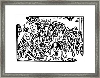 Maze Cartoon Of Sniper Sanctions On Iran's Gasoline Imports By Yonatan Frimer Framed Print by Yonatan Frimer Maze Artist