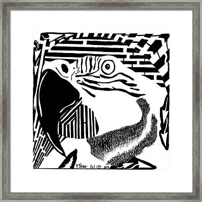 Maze For Your Shoulder Framed Print by Yonatan Frimer Maze Artist
