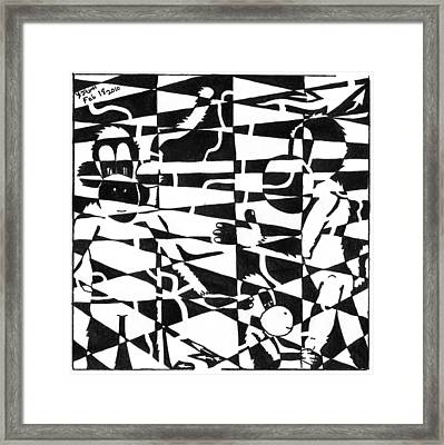 Maze Memoirs Of The Invisible Monkeys Framed Print by Yonatan Frimer Maze Artist