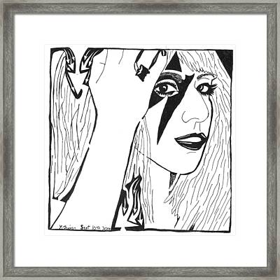 Maze Of Lady Gaga Framed Print by Yonatan Frimer Maze Artist
