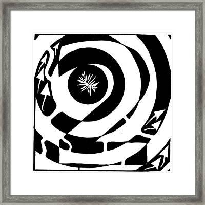 Maze Of Number Two Framed Print by Yonatan Frimer Maze Artist