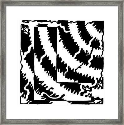 Maze Of The Letter L Framed Print by Yonatan Frimer Maze Artist