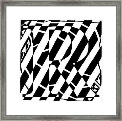 Maze Of The Letter R Framed Print by Yonatan Frimer Maze Artist