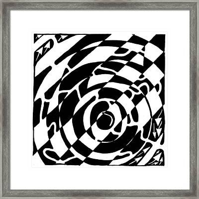 Maze Of The Number Six Framed Print by Yonatan Frimer Maze Artist