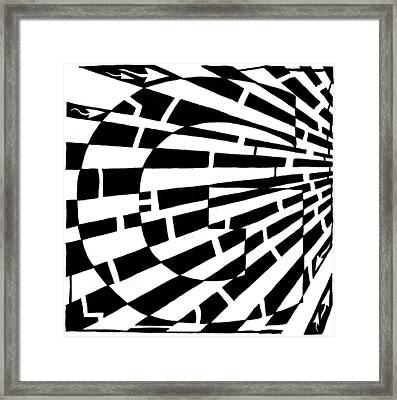 Maze Of Uppercase G Framed Print by Yonatan Frimer Maze Artist