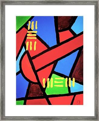 Mbili Framed Print by Malik Seneferu