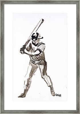 Mbl Batter Up Framed Print by Seth Weaver