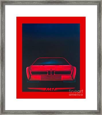 Bmw  M1 Framed Print by Johannes Murat