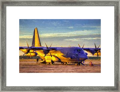 Mc-130j Framed Print by JC Findley