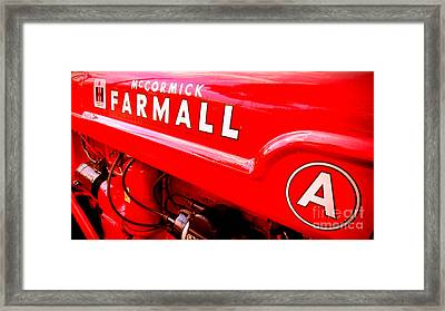 Mccormick Farmall A Framed Print by Olivier Le Queinec