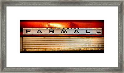 Mc Cormick Farmall Antique Nameplate Framed Print by Olivier Le Queinec