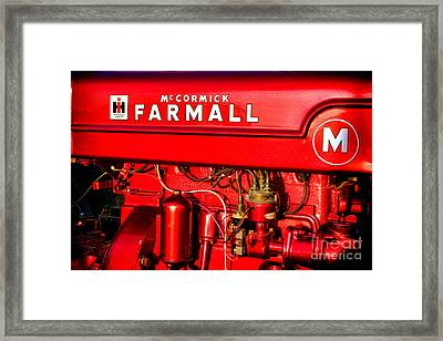 Mc Cormick Farmall M Framed Print by Olivier Le Queinec
