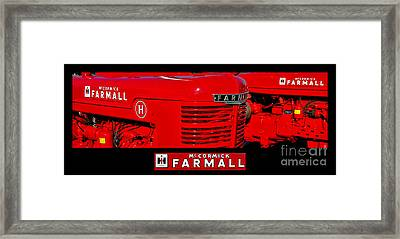 Mc Cormick Farmall Poster Framed Print by Olivier Le Queinec