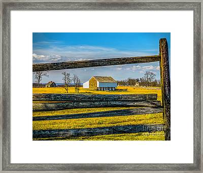 Framed Print featuring the photograph Mc Pherson Barn - Gettysburg National Park by Nick Zelinsky