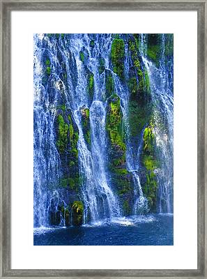 Framed Print featuring the photograph Mcarthur-burney Falls by Sherri Meyer