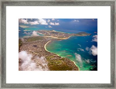 Framed Print featuring the photograph Mcbh Aerial View by Dan McManus