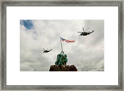 Mcbh Remembers Iwo Jima Framed Print by Dan McManus