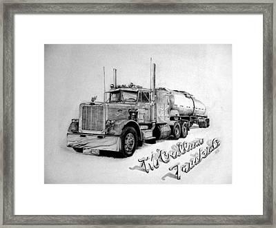Mccallum Trucking Framed Print by Dean Herbert