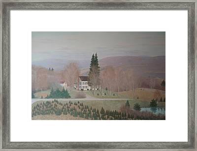 Mccarty Farm House Framed Print by Joseph Stevenson
