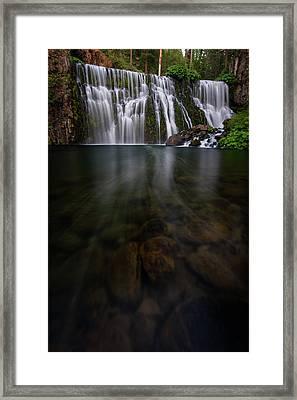 Mccloud Falls Framed Print by Dustin LeFevre