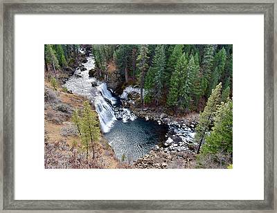 Mccloud Falls Framed Print