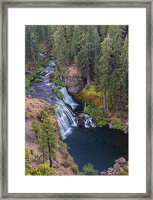Mccloud River And Middle Falls Framed Print