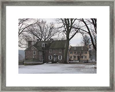 Mcconkey Ferry Inn And Mahlon Taylor Homestead Framed Print