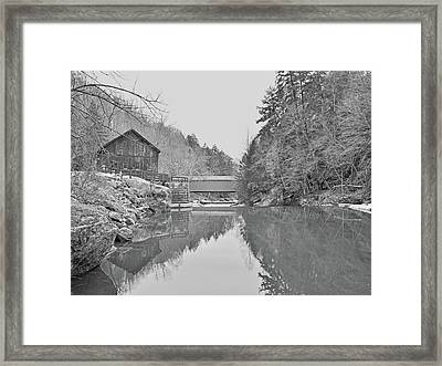Framed Print featuring the photograph Mcconnells Mill In Late March by Digital Photographic Arts