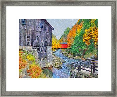 Framed Print featuring the digital art Mcconnells Mill State Park  by Digital Photographic Arts