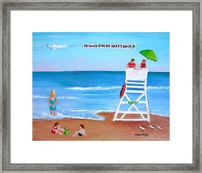 Mccool's All Day Happy Hour Framed Print by Marita McVeigh