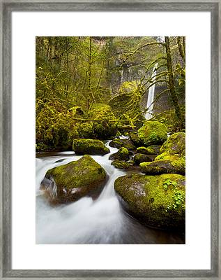 Mccord Creek Below Elowah Falls Framed Print by Thorsten Scheuermann