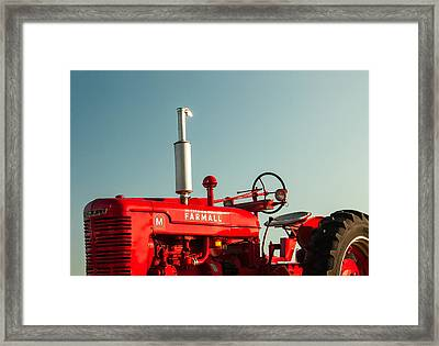 Mccormick-deering Farmall M Framed Print by Todd Klassy
