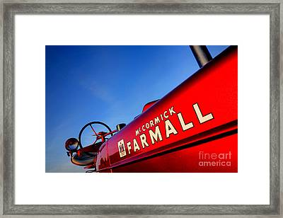 Mccormick Farmall Red Beauty Framed Print by Olivier Le Queinec