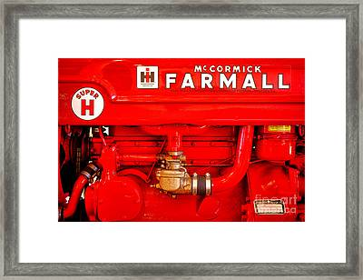 Mccormick Farmall Super H Framed Print by Olivier Le Queinec