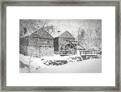 Mccormick's Farm February 2012 Series Vi Framed Print by Kathy Jennings