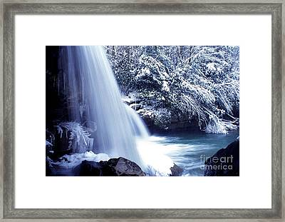 Mccoy Falls In January Framed Print by Thomas R Fletcher