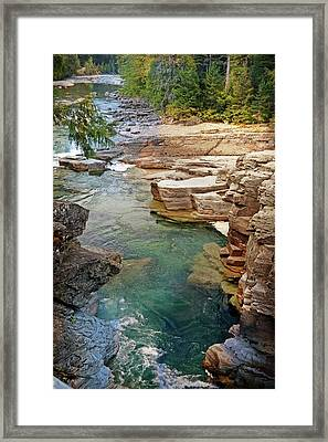 Mcdonald Creek 6 Framed Print by Marty Koch