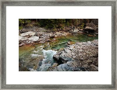 Mcdonald Creek 7 Framed Print by Marty Koch