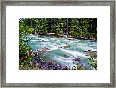 Framed Print featuring the photograph Mcdonald Creek by Gary Lengyel