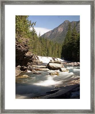 Mcdonald Creek Framed Print by Marty Koch